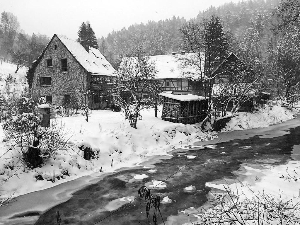 Heeselichtmühle im Winter