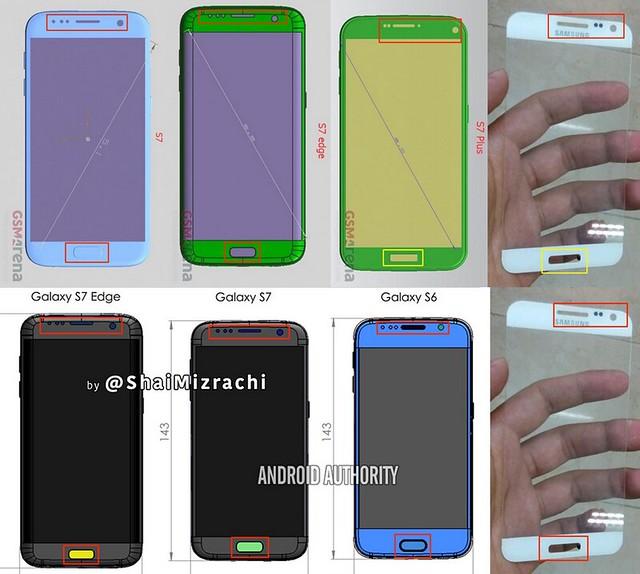 Một số mô hình của chiếc Galaxy S7