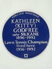 Photo of Kathleen Godfree blue plaque
