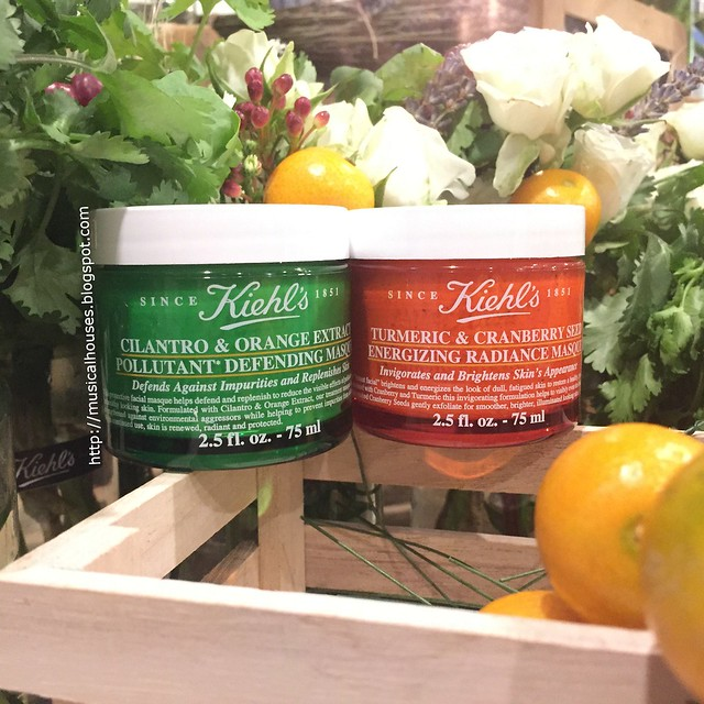 Kiehls Masque Cilantro Orange Tumeric Cranberry Seed