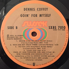 DENNIS COFFEY:GOIN' FOR MYSELF(LABEL SIDE-B)