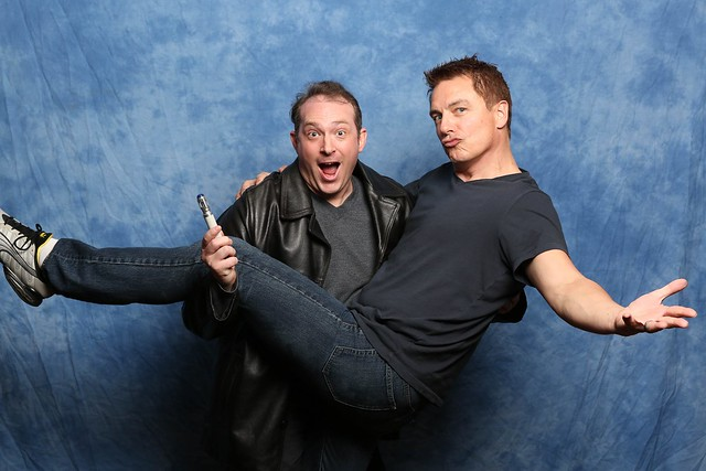 My photo with John Barrowman courtesy of Christopher Erickson