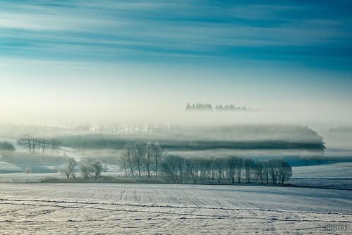 winter fog germany landscape bayern deutschland bavaria haze nebel outdoor jahreszeit himmel landschaft dunst nebelschwaden pfaffenhofenanderglonn unterumbach