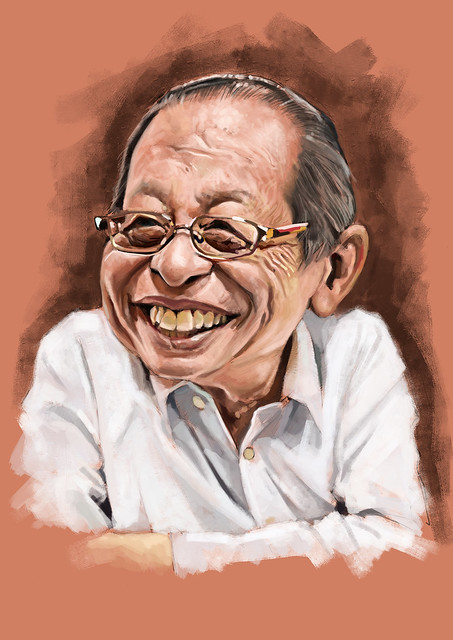 林吉祥 Lim Kit Siang digital caricature painting - 2