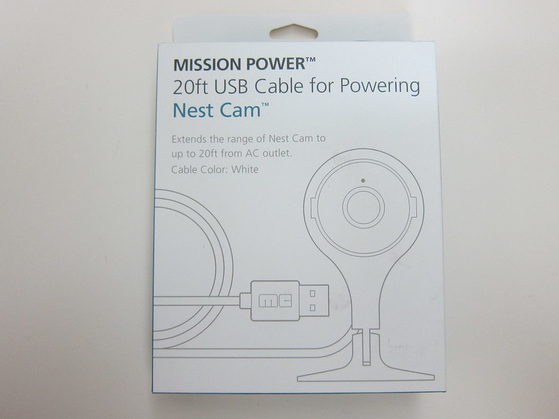 20ft (6m) USB Power Cable for Nest Cam - Box Front