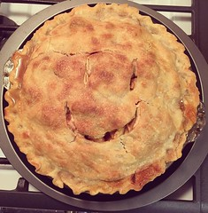 Doesn't everybody bake a homemade, smiley face, apple pie...in the middle of a blizzard? I do!!