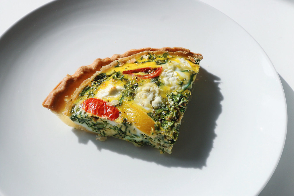 kale & goat cheese quiche 8