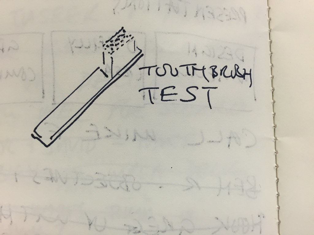 Toothbrush test