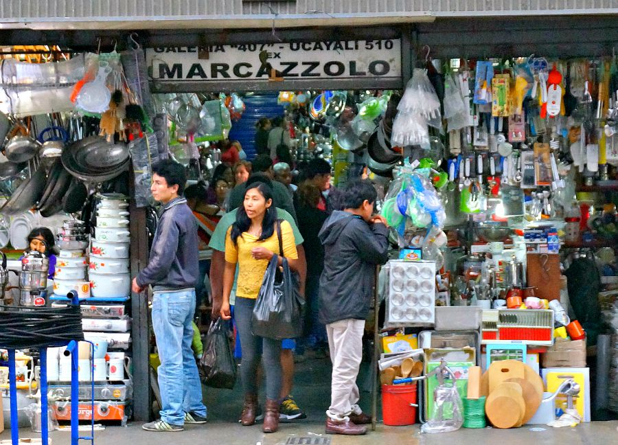 Shop outside of Downtown Lima's Central Market