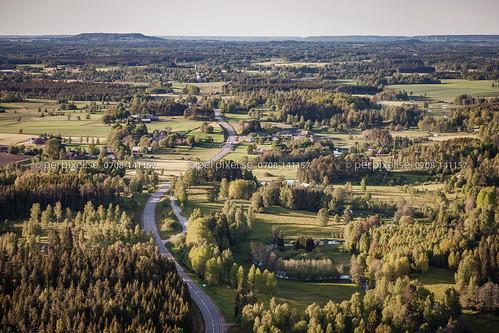 natur sverige swe västragötaland humla flygfoto blidsberg