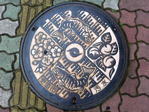 Koshoku Nagano, manhole cover (長野県更埴市のマンホール)