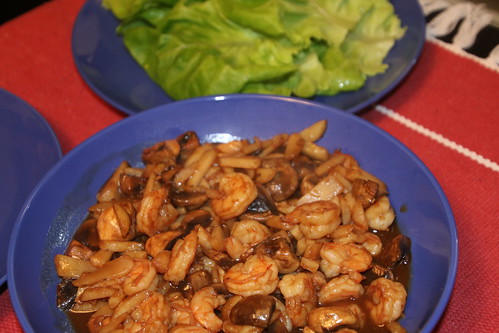 Asian Shrimp Lettuce Wraps