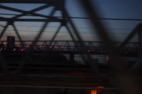 dusk at bridge