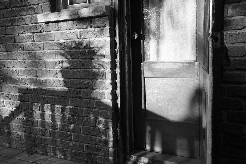 b:w back door shadow