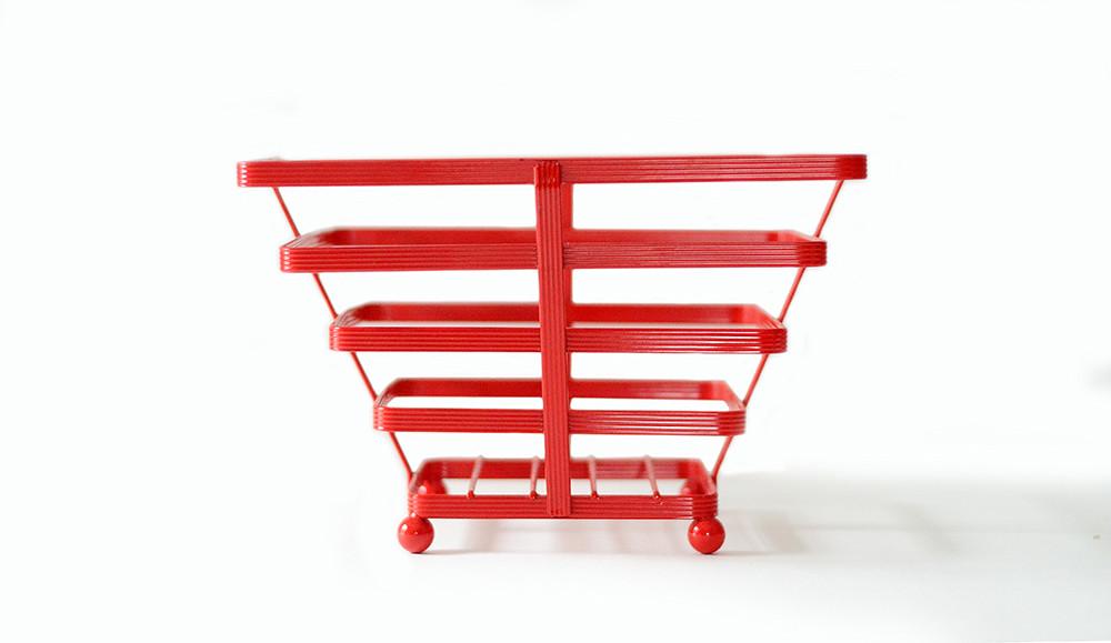 Vintage Red Wire Basket