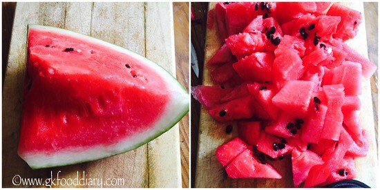 Watermelon Juice Recipe for Babies, Toddlers and Kids - step 1