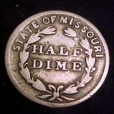 Half Dime token Nicholson's St. Louis, MO reverse