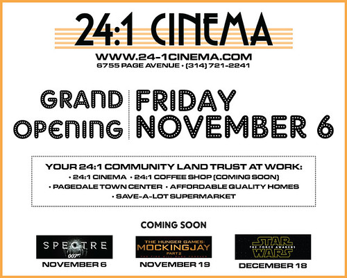 St. Louis movie theatre grand openings