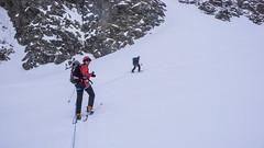 Podejście odowcem Vadret Pers na Piz Palu 3900m - Albert i Piotr.