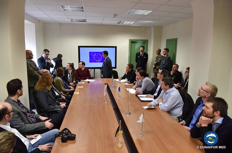 EU PMG visit to OP SOPHIA – EUNAVFOR MED