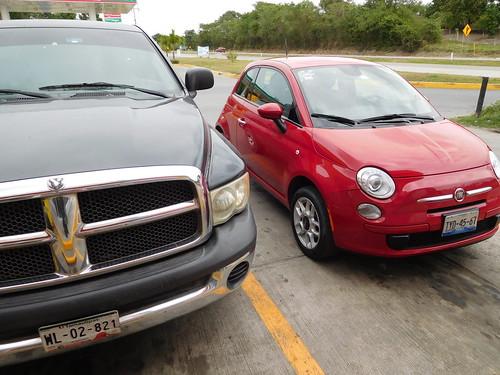 travel car mexico big driving small vehicle fiat500 travelogue dodgeram