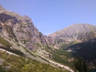 Próg Doliny za Mnichem, Miedziane opada do Szpiglasowej Przełęczy