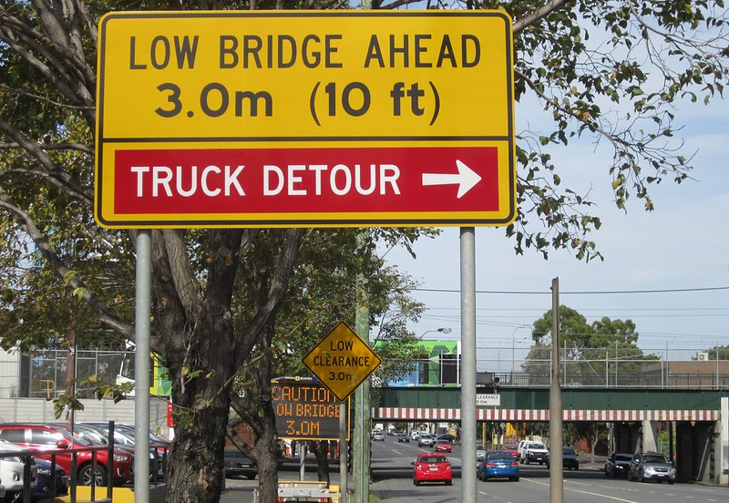 Montague St bridge, looking south