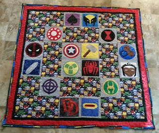 Marvel Baby Quilt - 9 Patterns from fandominstitches.com
