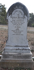 Thomas Atkinson's headstone, St Stephen's cemetery, Willunga