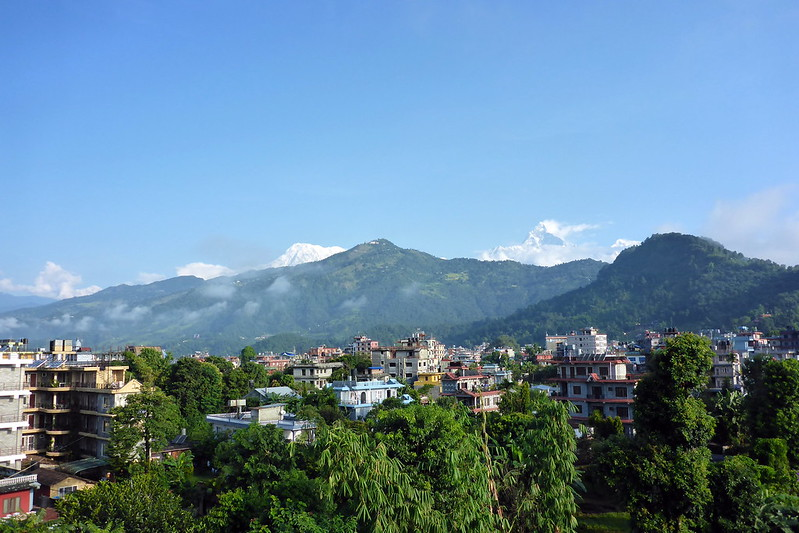 Mountain View from Pokhara Hotel