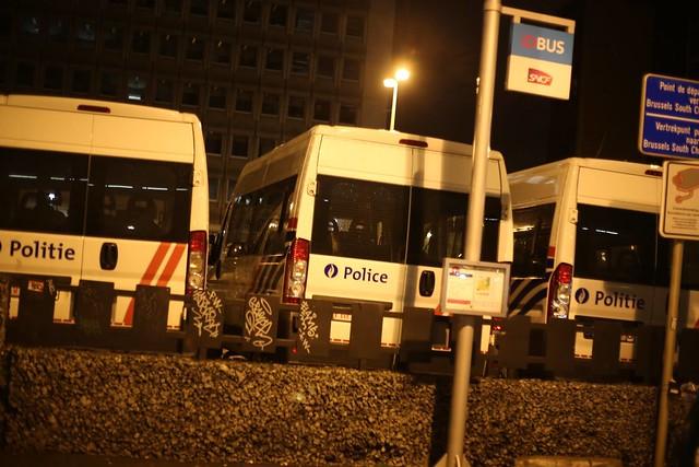 Spoorstaking Brussel // Foto's: PPICS