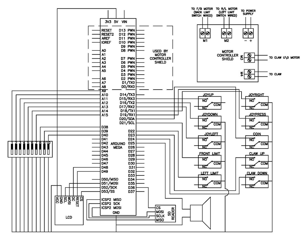 The Claw Schematic I Got Motors To Move Independently When Ever Give One Power Have Set Other No At Same Time