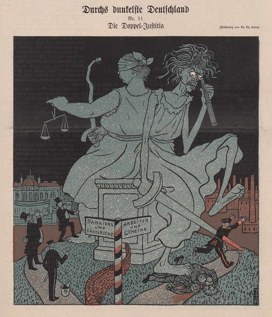 Thomas Theodor Heine - Through The Darkest Germany 11. The double - Justitia, 1903