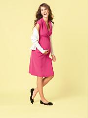 V-Neck Maternity Empire Dress - PDF Pattern