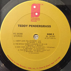 TEDDY PENDERGRASS:TEDDY PENDERGRASS(LABEL SIDE-B)