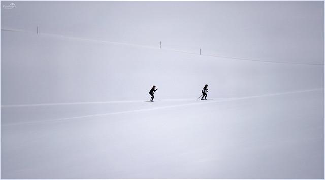 Black in white minimalism