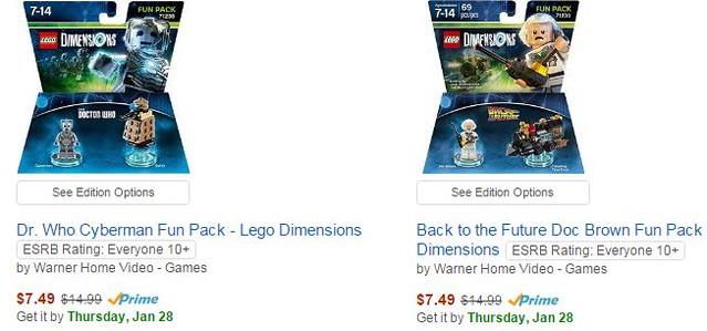 Lego Dimensions on Amazon