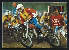 Геннадий Моисеев на чемпионате мира по мотокроссу 1977