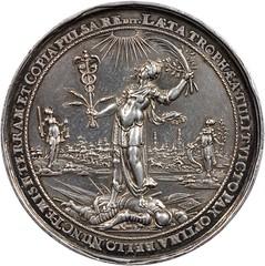 Danzig. Peace of Westphalia Silver Medal reverse