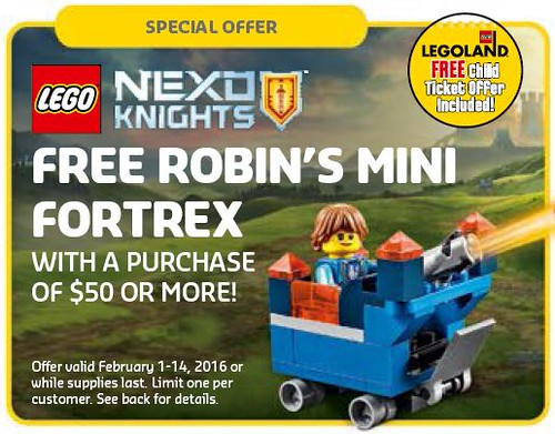 LEGO Nexo Knights Robin Offer