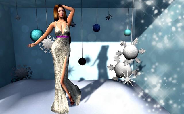 Tiffany's glitter snowflake