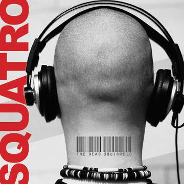 Squatro headphones BIG name sideways