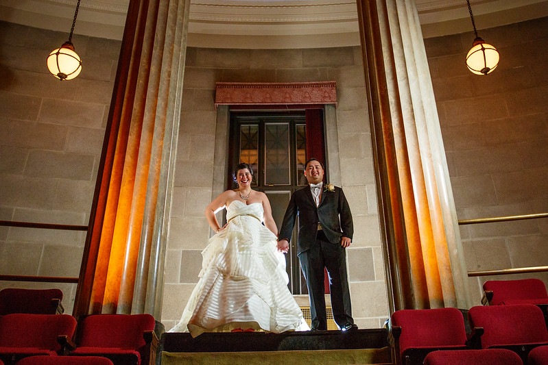 Winter storm Harry Potter wedding as seen on @offbeatbride