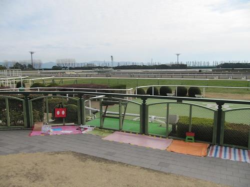 京都競馬場のウィナーズサークルの場所取り
