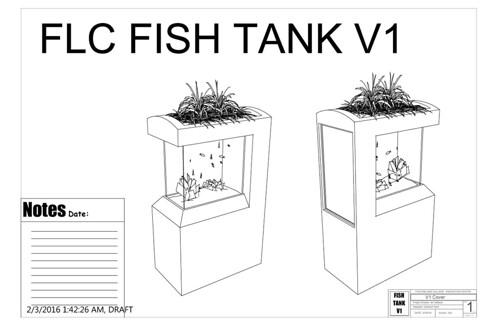 Making Across the Curriculum - Aquaponics Design Drawing 01