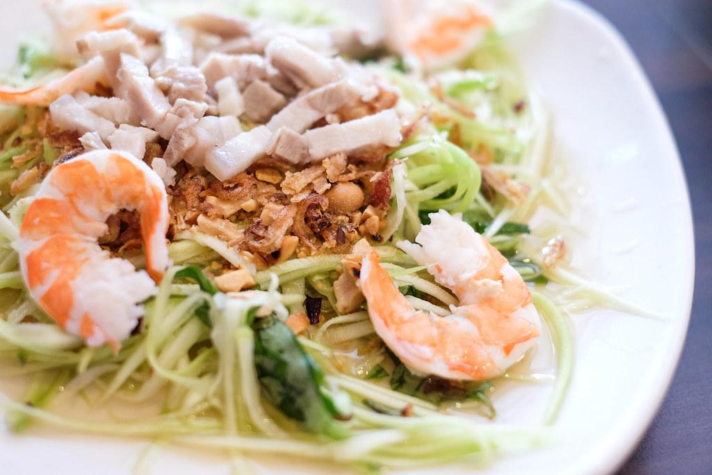 龙凤越南餐厅:Goi Xai(绿色芒果沙拉)