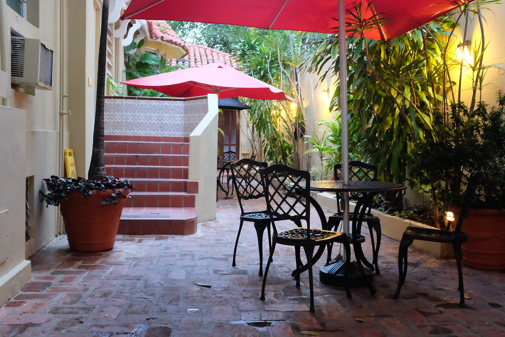 Patio of El Canario Boutique Hotel, San Juan, Puerto Rico