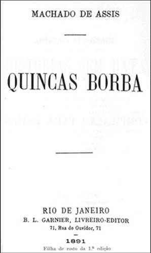 Quincas Borba, de Machado de Assis (folha de rosto da primeira edição)