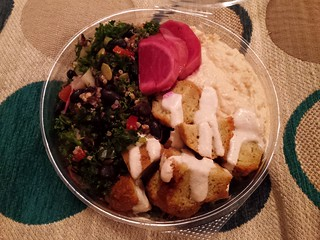 Black Bean, Kale and Falafel Salad from Charlie's Raw Squeeze Everton Park