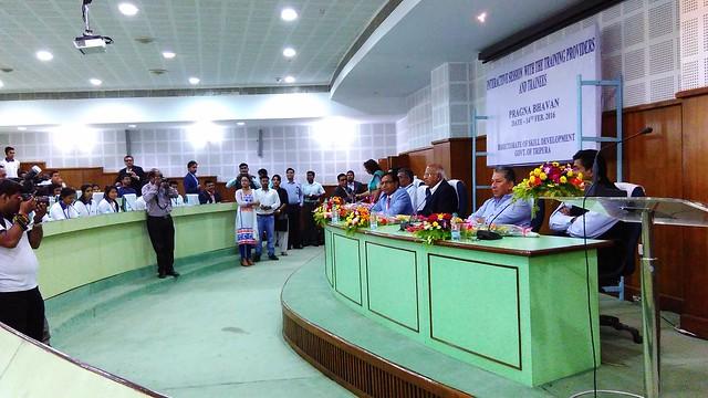 8 Mr. S. Ramadorai Chairman NSDA and NSDC interacting with Trainees of various Skill Development programs at Agartala